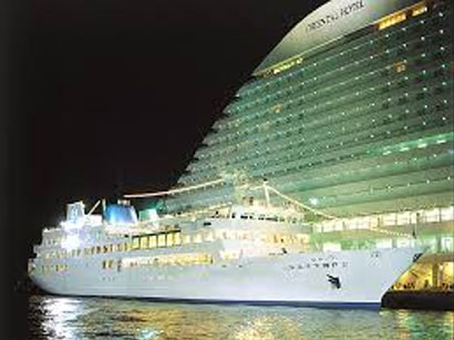One of Japan's Largest Restaurant Cruise Ships Luminous Kobe 2